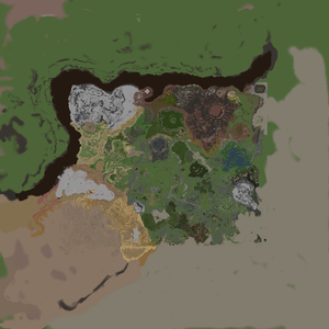 Generated material map of Hyrule Main Field
